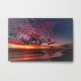 Stunning Tropical Beach Sunset Metal Print