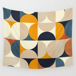 mid century abstract shapes fall winter 1 Wall Tapestry