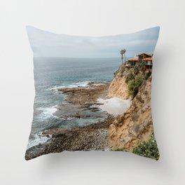 Ocean Art - House in the cliffs Throw Pillow