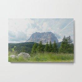 Mountain Peak Fir tree Forest Alpine Landscape Metal Print
