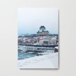 stay cozy in old quebec  Metal Print