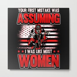 Funny Fire Department Firefighter Saying Gift Metal Print