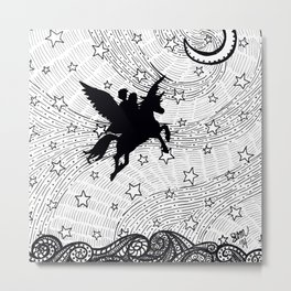 Flight of the alicorn Metal Print