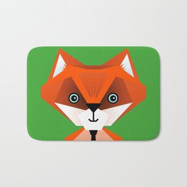 Clever Fox – Childrens Room Illustration for Boys and Girls Bath Mat