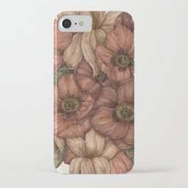 Poppies and Lilies iPhone Case