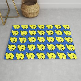Spooky cute yellow monster Rug
