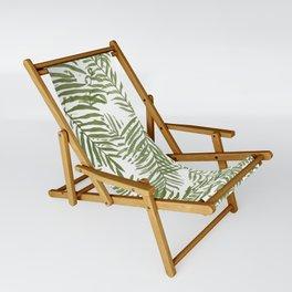Areca Palm Pattern Sling Chair