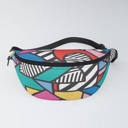 Colorful Memphis Modern Geometric Shapes - Tribal Kente African Aztec Fanny Pack