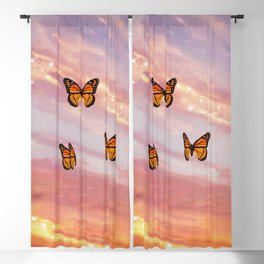 Butterfly Sunset Aesthetic Blackout Curtain