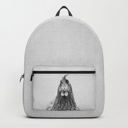 Chicken - Black & White Backpack