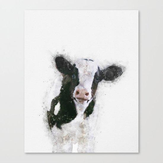 Holstein Cow Watercolor by pearpearplum