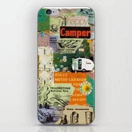 RETRO CAMPING COLLAGE iPhone Skin