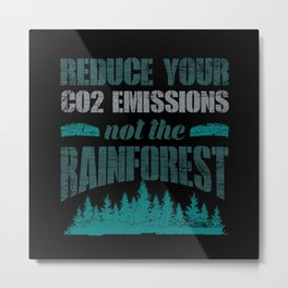 Rainforest Environmental Protection Metal Print
