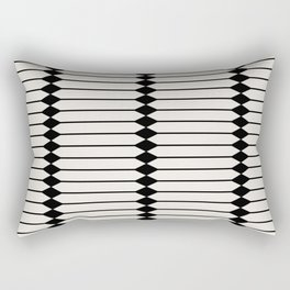 Minimal Geometric Pattern - Black Rectangular Pillow