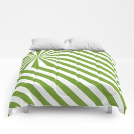 Stripes explosion - Green Comforters