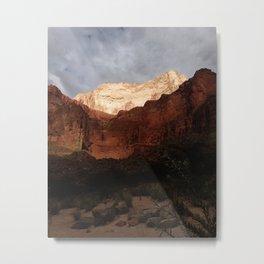 Light on the Grand Canyon Walls Metal Print