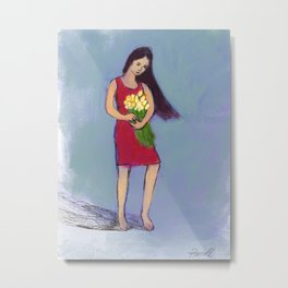 Girl From A Sonnet Metal Print