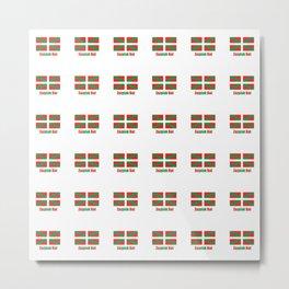 Flag of Euskal Herria 7-Basque,Pays basque,Vasconia,pais vasco,Bayonne,Dax,Navarre,Bilbao,Pelote,spa Metal Print