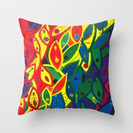 Tribute to the Decendents of the Goddex Kunta (rainbow) Throw Pillow