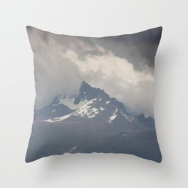 Snow Storm on the Mountain Throw Pillow