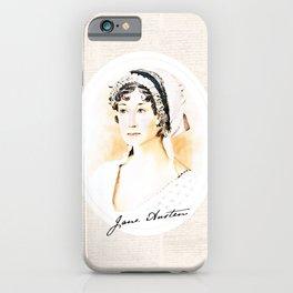 Portrait of a lady writer - Jane Austen iPhone Case