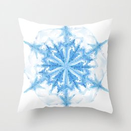 Snow Crystal III Throw Pillow