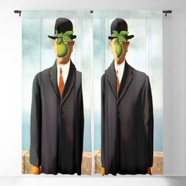 Rene Magritte The Son of Man, 1964 Artwork, Tshirts, Posters, Prints, Bags, Men, Women, Youth Blackout Curtain