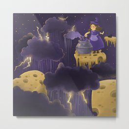 Witch of Rainy Days Metal Print
