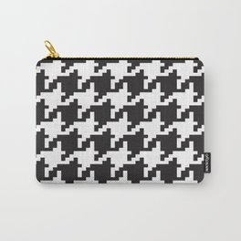 Houndstooth - Black & White Carry-All Pouch