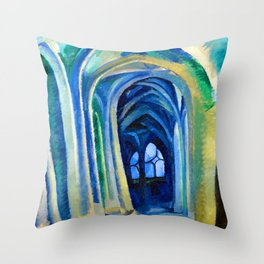Robert Delaunay Saint Severin Throw Pillow