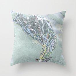 Ski Santa Fe Trail Map Throw Pillow