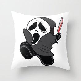 SHY SCREAM Throw Pillow