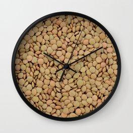Green lentils Wall Clock