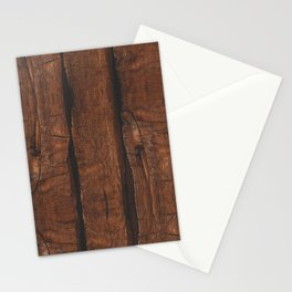 Rustic brown old wood Stationery Cards