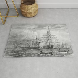 U.S. Naval Fleet During The Civil War Rug