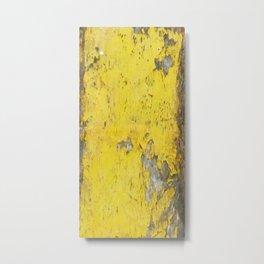 Yellow Weathered Wood rustic decor Metal Print