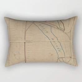 Map showing steam, cable, and horse roads in the Bronx. Rectangular Pillow