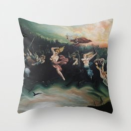 Viking Battle Throw Pillow