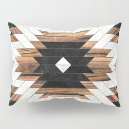 Urban Tribal Pattern No.5 - Aztec - Concrete and Wood Pillow Sham