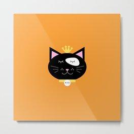 Crown cat Metal Print