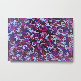 Purple and Blue Puzzle Pieces Metal Print
