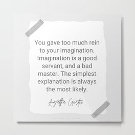 14 | Agatha Christie Quotes 200819 Metal Print