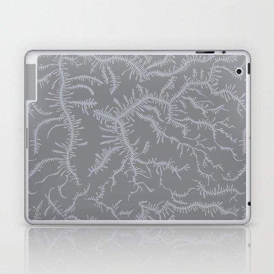 Ferning - Gray Laptop & iPad Skin