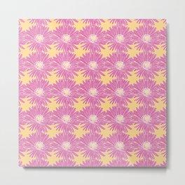 Hottentot Fig Floral Pattern Metal Print