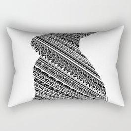 Mandala Bunny Rabbit Rectangular Pillow