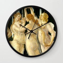 "Sandro Botticelli ""Spring"" The Three Graces (1) Wall Clock"