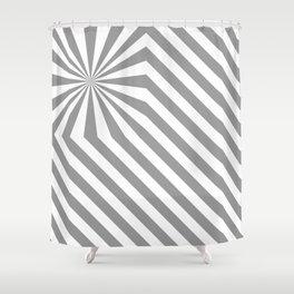 Stripes explosion - Grey Shower Curtain