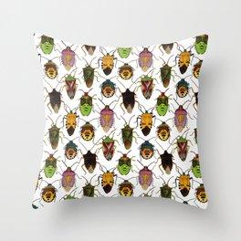 Shield bug pattern Throw Pillow