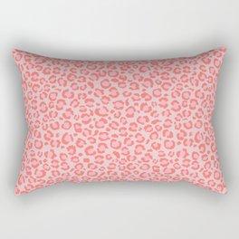 Coral Leopard Print - Living Coral design | Girly Pastel Cheetah Rectangular Pillow