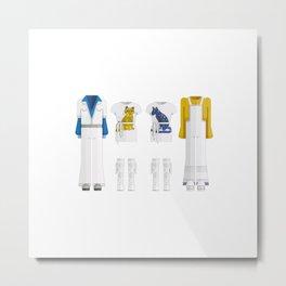 Pop Group Minimal Sticker Metal Print